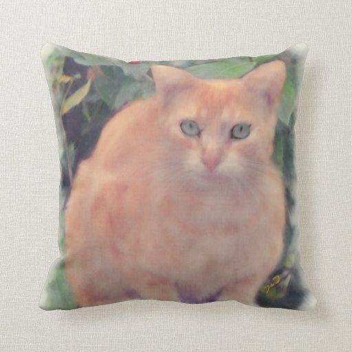 Almohadas de oro del gato