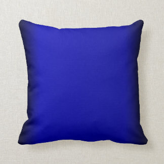 Almohadas de tiro azules eléctricas