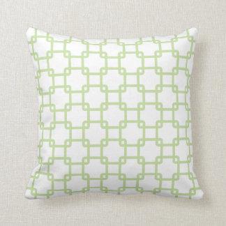Almohadas de tiro cuadradas verdes del vínculo
