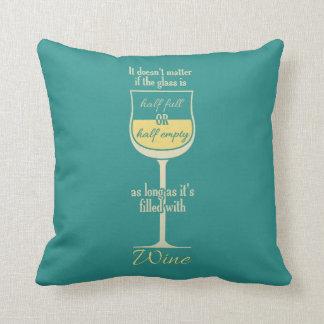 Almohadas de tiro de encargo de la copa de vino bl