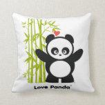 Almohadas de tiro de Panda® del amor