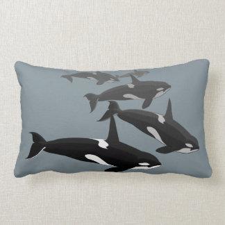 Almohadas de tiro del arte de la orca de la almoha