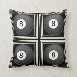 almohadas de tiro del billar 8-Ball Cojín Decorativo