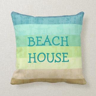 Almohadas de tiro del tema de la playa cojín decorativo