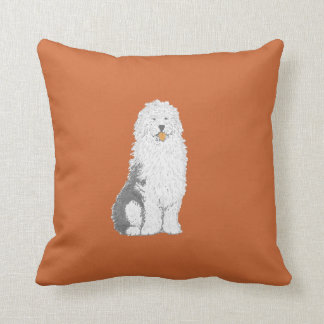 Almohadas de tiro inglesas viejas del perro de cojín decorativo