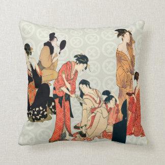 Almohadas de tiro japonesas del diseño del arte