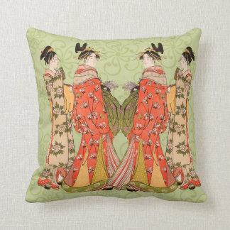 Almohadas de tiro japonesas hermosas del diseño de