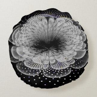 almohadas de tiro redondas cepilladas abstractas cojín redondo