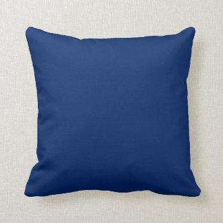 Almohadas de tiro sólidas del azul real