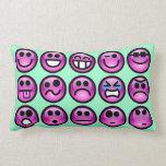Almohadas de tiro sonrientes del Emoticon de la ca