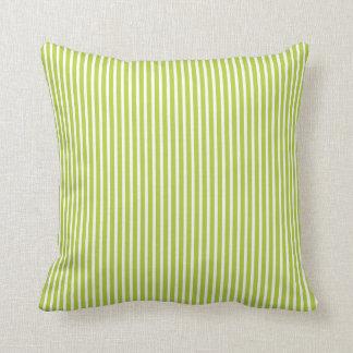 Almohadas decorativas rayadas verdes chartreuses