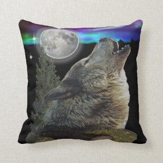Almohadas del arte del lobo