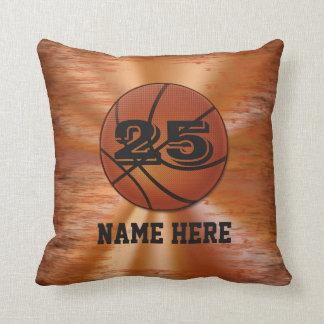 Almohadas del baloncesto con SU NOMBRE y NÚMERO Cojín Decorativo