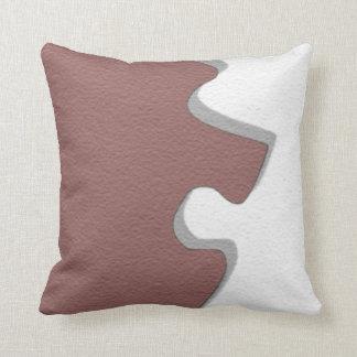 Almohadas del pedazo del rompecabezas del vino roj