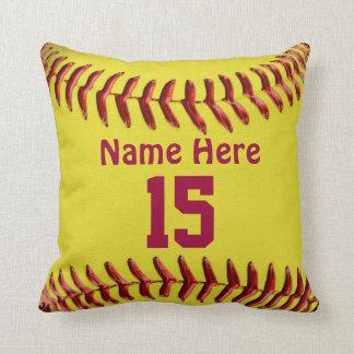 Almohadas del softball para los temas del sitio
