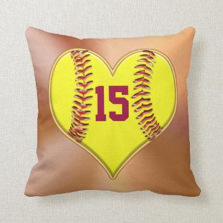 Almohadas del softball para los temas del sitio de