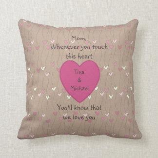 Almohadas del tacto de la madre personalizada cojín decorativo