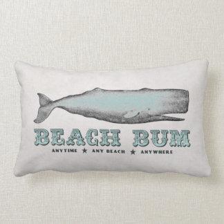 Almohadas del vago de la playa de la ballena del v