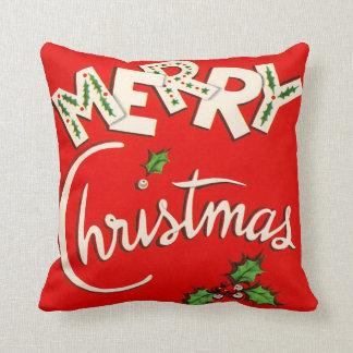Almohadas estacionales de las Felices Navidad del