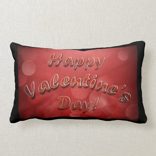 Almohadas felices del el día de San Valentín