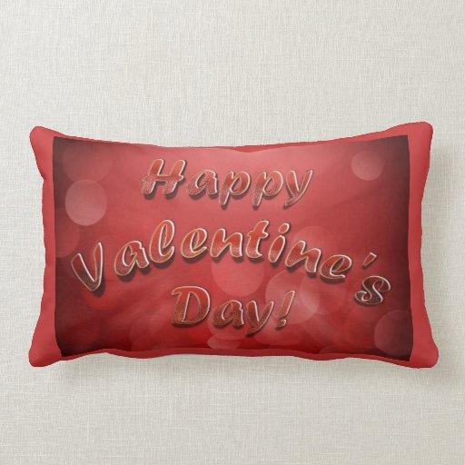 Almohadas felices del el día de San Valentín Cojín Lumbar