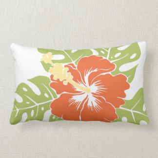Almohadas hawaianas del Lumbar del hibisco de la