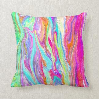 Almohadas líquidas del neón del color