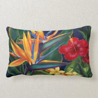 Almohadas lumbares del decorador del paraíso tropi