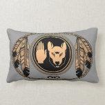 Almohadas nativas personalizadas almohada del lobo