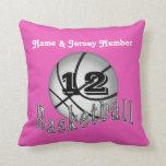 Almohadas personalizadas del baloncesto con NOMBRE