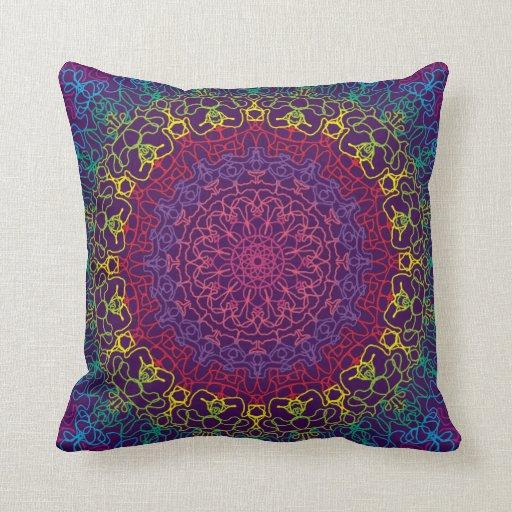 Almohadas púrpuras de MoJo del americano del calei