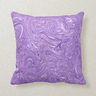 Almohadas púrpuras mojadas