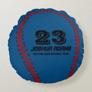 Almohadas redondas azules del equipo de deportes cojín redondo