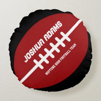 Almohadas redondas rojas del equipo de deportes de cojín redondo