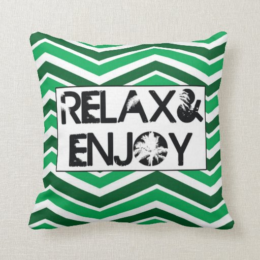 Almohadas-Relax&Enjoy decorativas del tiro