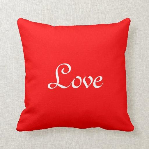 Almohadas rojas del amor cojín decorativo