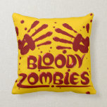 Almohadas sangrientas del zombi