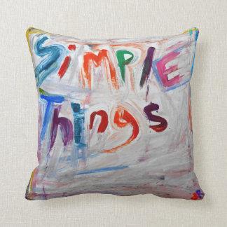 almohadas simples del diseño del extracto de las c
