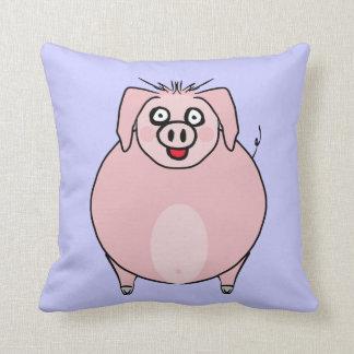 Almohadas sonrientes gordas del cerdo