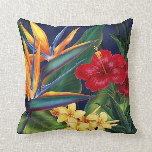 Almohadas tropicales del decorador del cuadrado