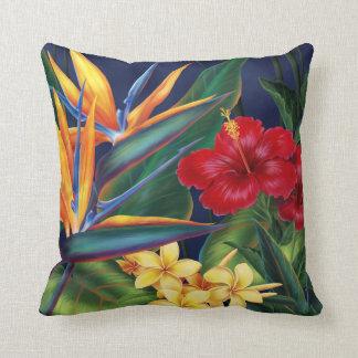 Almohadas tropicales del decorador del cuadrado de