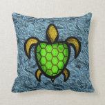 Almohadas verdes de la tortuga de Shell