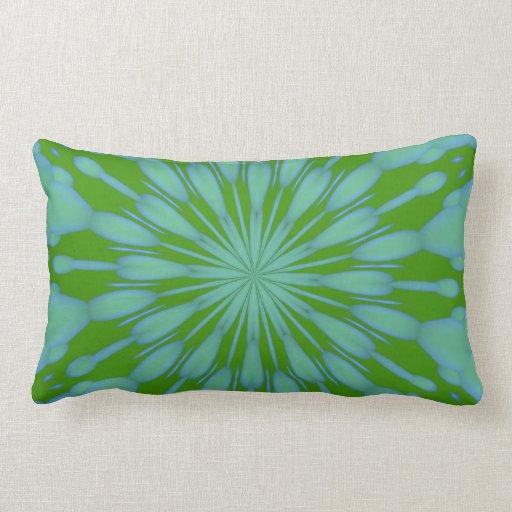 Almohadas verdes del zen de la burbuja