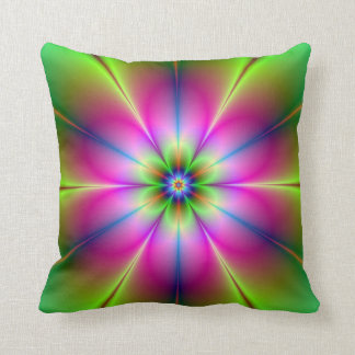 Almohadas verdes y rosadas de la flor