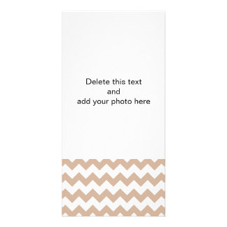 Almond and White Chevron Pattern Card