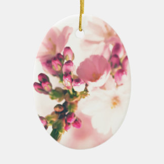 Almond blooms kind ceramic ornament