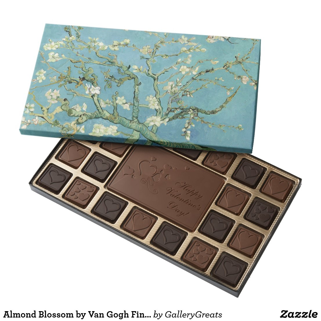 Almond Blossom by Van Gogh Fine Art Assorted Chocolates