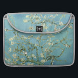 "Almond blossom by Van Gogh Fine Art MacBook Pro Sleeve<br><div class=""desc"">Almond Tree originally painted in 1890,  Saint Remy,  France in celebration of the birth of his nephew and namesake,  Vincent.  Customizable floral fine art Macbook Pro sleeve in delicate teal blue,  green &amp; cream.</div>"