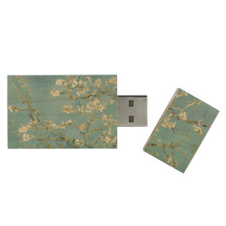 Almond Blossom by Van Gogh Fine Art Wood Flash Drive