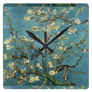Almond blossom by Vincent van Gogh Square Wallclocks